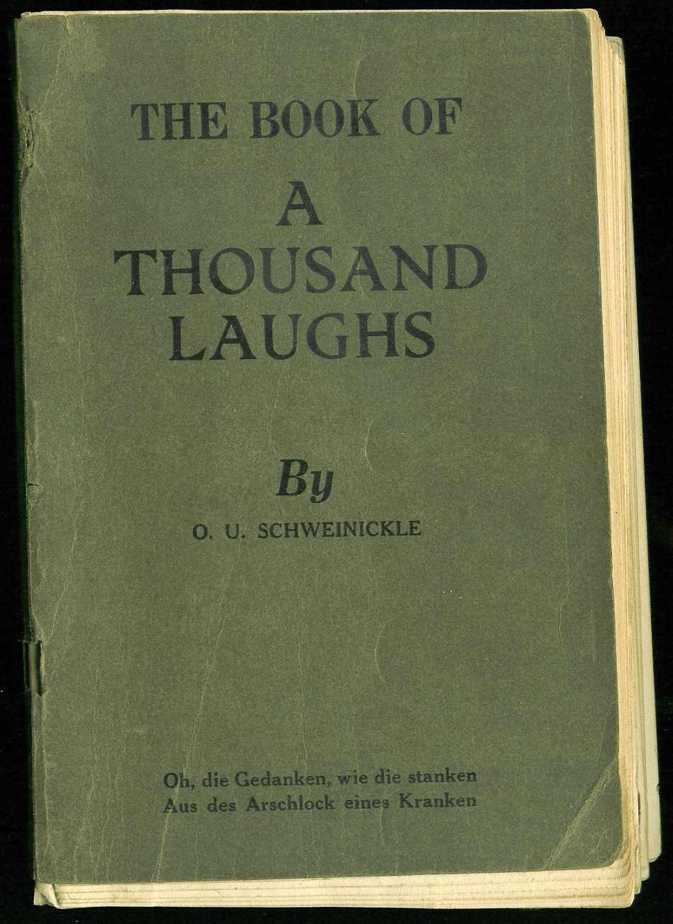 the book of a thousand laughs by o. u. schweinickle - Weie Mbel Weie Wand