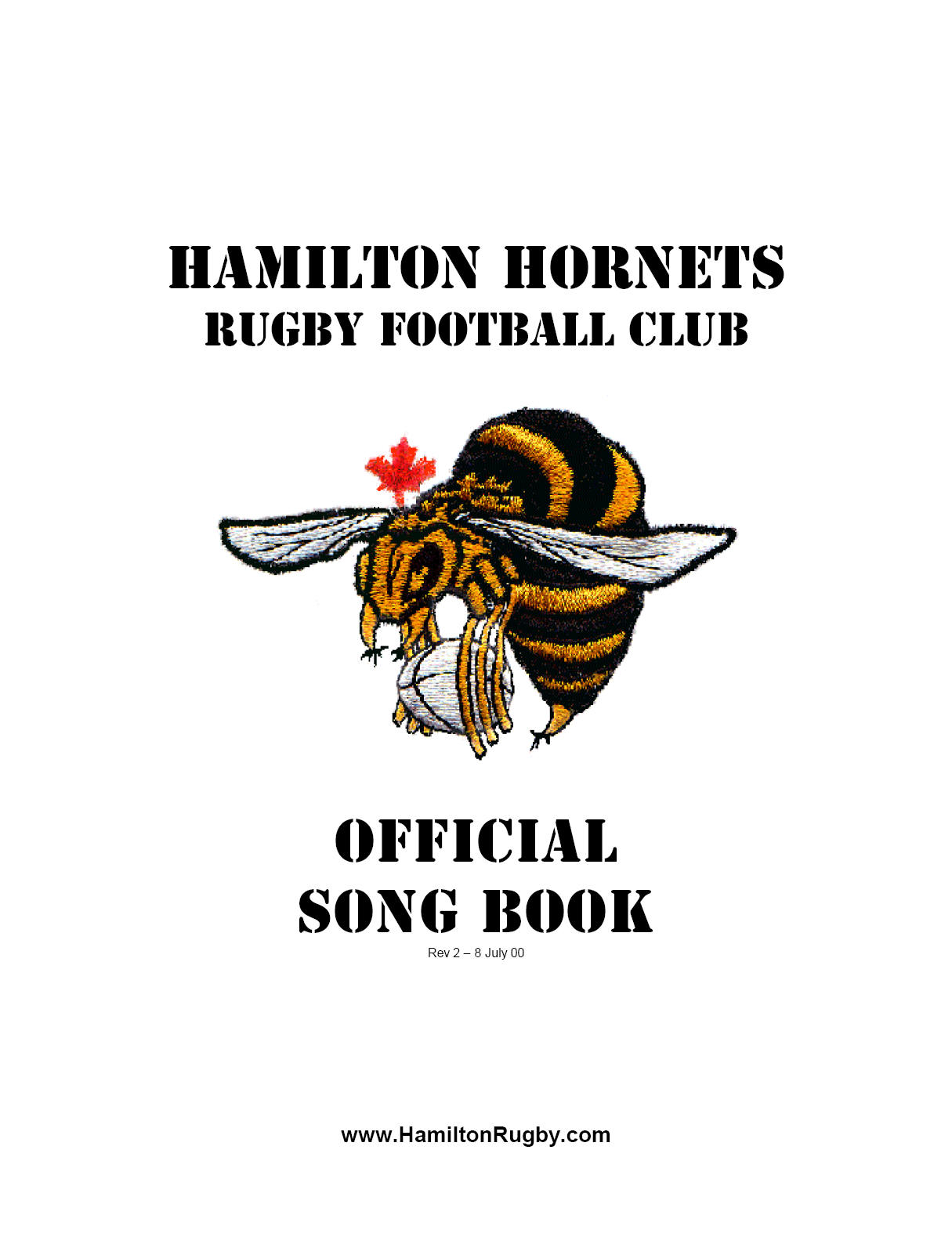 Hamilton Rugby Songbook (2000)