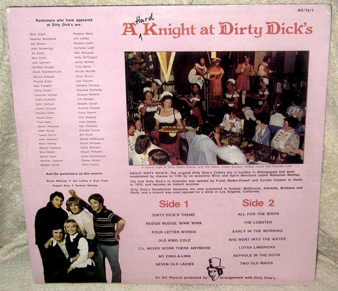 Dirty dicks limerick